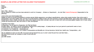 Photography Internship Offer Letters | Offer Letters Templates ...