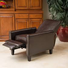 compact recliner chair. Amazon.com: Lucas Brown Leather Modern Sleek Recliner Club Chair: Kitchen \u0026 Dining Compact Chair