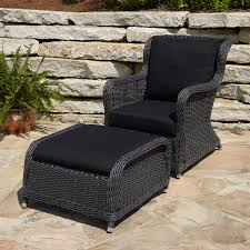 patio resin wicker chairs resin wicker patio furniture clearance alcee resin wicker chair and ottoman