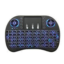Satın almak online I8 mini kablosuz klavye i̇ngilizce düzeni için 7 renk  arkadan aydınlatmalı 2.4ghz 3 renk hava fare touchpad uzaktan kumanda ile  android tv kutusu > Fare ve klavyeler / Value-Online.cam