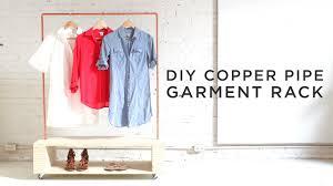 diy copper pipe garment rack