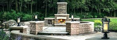 outdoor wood burning fireplace kits tone prefab