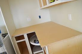 the first thing we did was cut out particle board yes you want to use particle board here because it is dimensionally more square than say plywood and