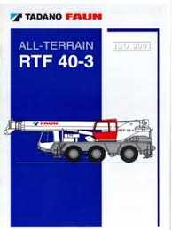 Tadano 40 Ton Crane Load Chart All Terrain Cranes Tadano Faun Specifications Cranemarket