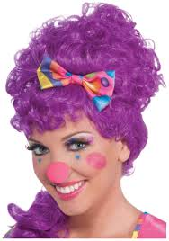 womens funny hot pink clown nose