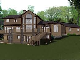 lakefront house plans with walkout basement new home inside