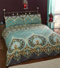 durable modeling de cama ethnic indian print duvet cover with 2 pillow cases king