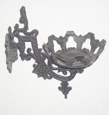 cast iron oil lamp sconce with wall mount bracket realized