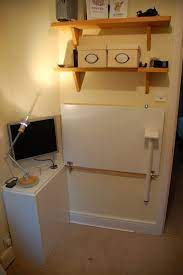 cupboard door folding desk ikea