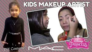diy mac kids makeup artist costume disney princess makeup tutorial