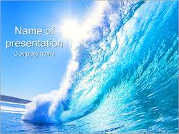 wave powerpoint templates sea wave powerpoint template backgrounds id 0000002316