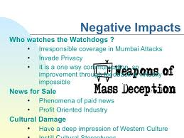 impact of media on n society  5 negative impacts