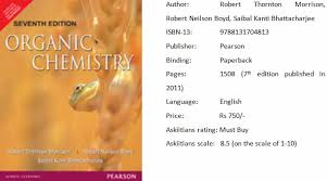morrison organic chemistry book organic chemistry iit jee  morrison organic chemistry is one of the best books for jee preparation