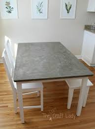 diy concrete dining table top and set makeover the crazy with regard to idea 2