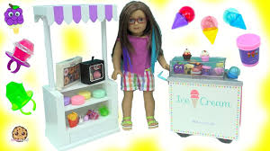 cute mini scented ice cream cupcake lip gloss makeup haul with american doll