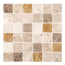 jeffrey court medley 12 in x 12 in x 10 mm travertine mosaic tile