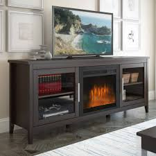 corliving jackson espresso fireplace tv bench for tvs up to 80 com