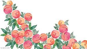watercolor peach wallpaper for desktop