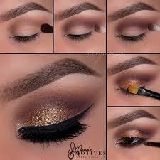 gold brown smokey eye tutorial smokey eye makeup makeup eyeshadow eyeliner brown