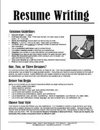 read our resume handout resume writing format