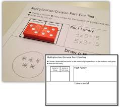 Dominoes Multiplication Division Fact Families Math