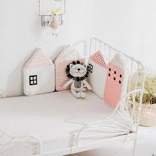 details about baby bedding crib pers cute house model home bed decor cotton protector 4pcs