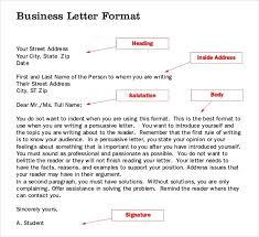 Business Letter Format Word Formal Business Letter Format Word Resume Pdf Download