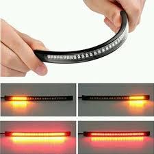 <b>Flexible 48 LED</b> Motorcycle Light Bar Strip Tail Turn Signal Tail Rear ...