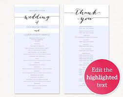 Templates For Wedding Programs Wedding Program Templates Wedding Templates And