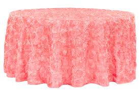 home decorative cv linens tablecloths 42 wedding rosette satin 120 round tablecloth c within pink ideas