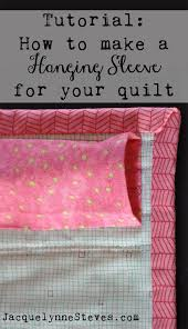 a hanging sleeve for a quilt