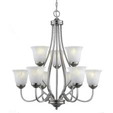 bel air lighting 9 light brushed nickel chandelier