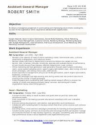 Sample General Objective For Resume Assistant General Manager Resume Samples Qwikresume