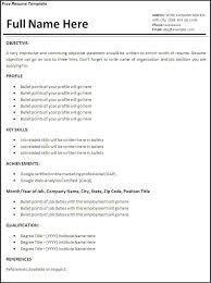 resume samples job