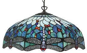 blue dragonfly large 3 lamp 50cm tiffany pendant light