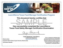 Food Safety Course Answers Texas Food Manager Ansi Online Certification 35 Texas