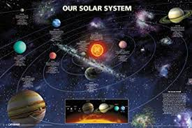 amazon pyramid america our solar system planets outer e galaxy astronomy educational clroom poster 18x12 inch posters prints