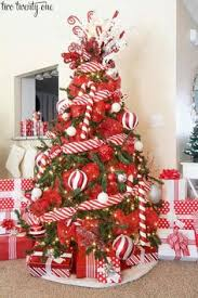 Candy Cane Decorations For Christmas Trees 60 Red and White Christmas Decoration Ideas Christmas tree 10