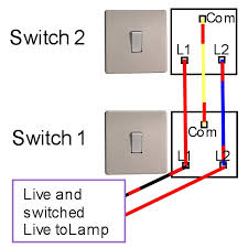 two way light switching light fitting 2 Switches 1 Light Wiring Diagram two way light switching