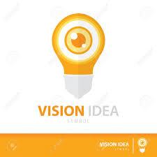 Eye Logo Design Ideas Eye In Light Bulb Symbol Icon Vision Ideas Concept Vector Illustration