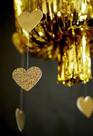 gold fringe chandelier diy party decoration