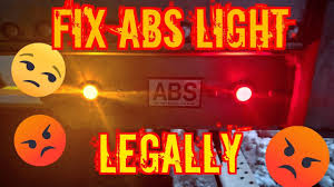 How Does Abs Light Work On Semi Trailer Abs Trucking Maintenance How To Turn Off Abs Light Legally