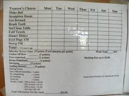 Appropriate Chore Chart For A 10 Year Old Boy Is 5 Dollars