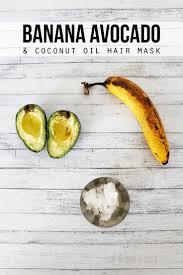 banana avocado and coconut oil hair mask