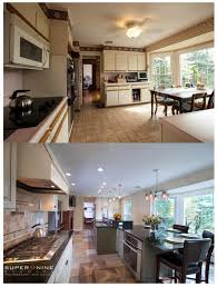 Kitchen Remodeling Before And After Archaic Design Ideas Using L Shaped Brown Kitchen Islands And