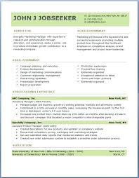Example Of A Professional Resume Samples Free Download Sample