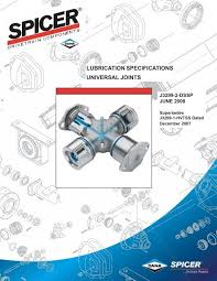 Spicer U Joint Chart Spicer Lubrication Specifications Universal Joints