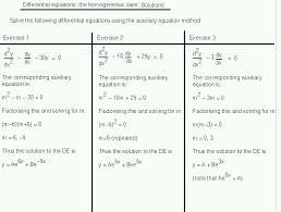 auxiliary equation method one solutions