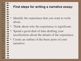 a narrative essay 3 first steps for writing a narrative essay