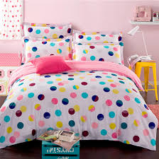 colorful polka dot bedding set for queen full size duvet cover bedsheet quilt bed sheet bedroom linen bedclothes in bedding sets from home garden on